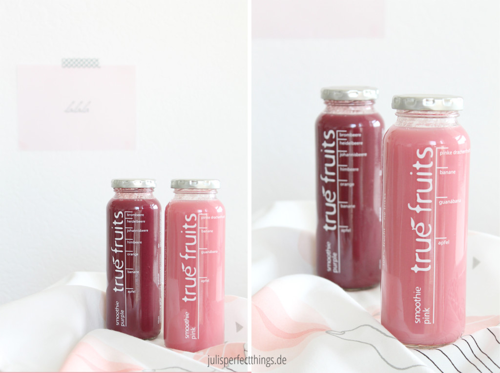 Trendfarbe blush true fruits smoothie pink