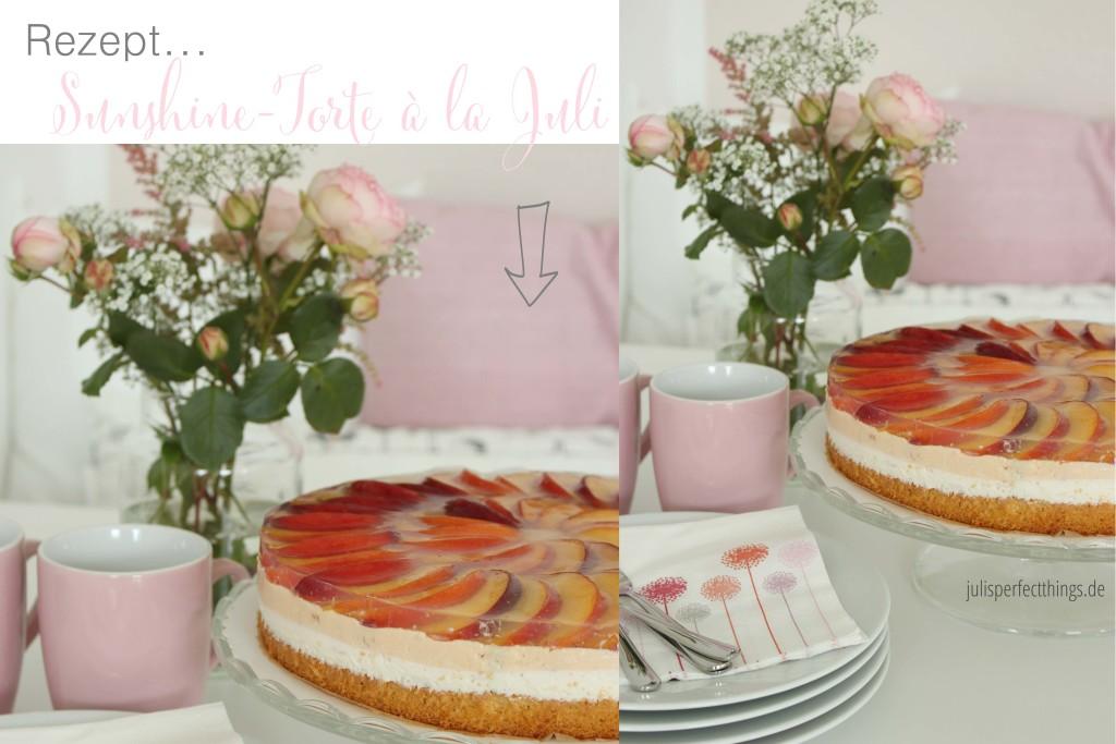 Sunshine-Torte mit Pfirsich