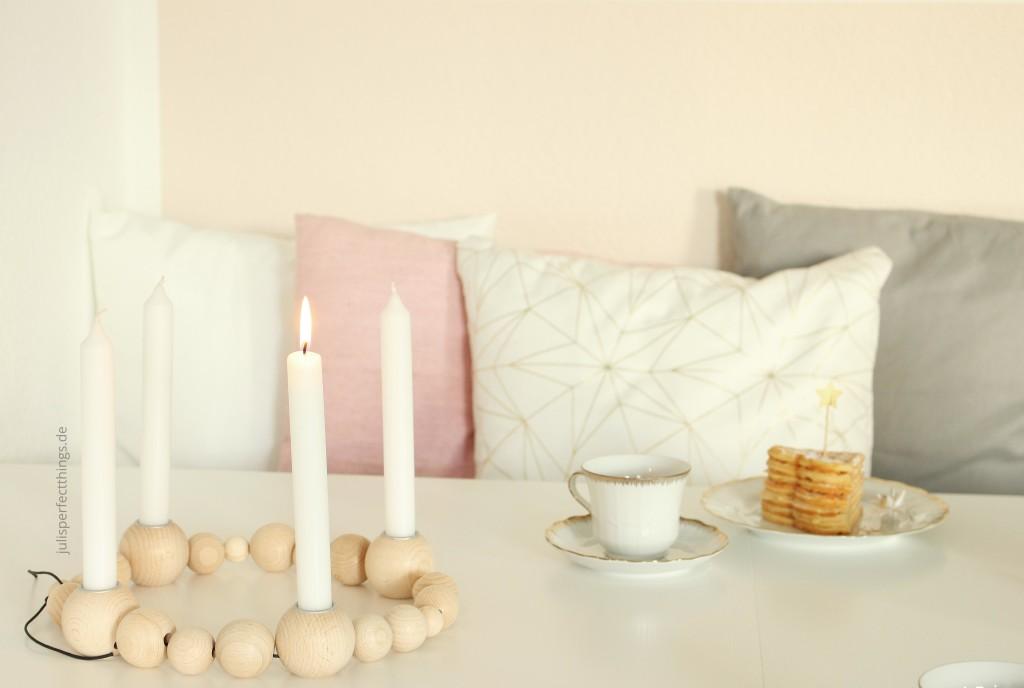 DIY Holzkugel Kerzenständer