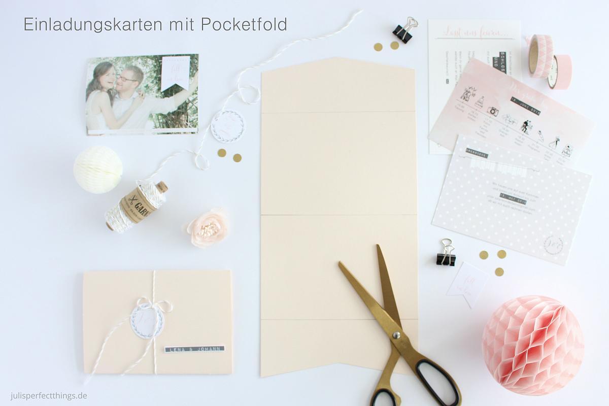 DIY Pocketfold Für Hochzeitseinladungen Basteln. Hochzeitseinladungen  Einladungskarten Pocketfold_9