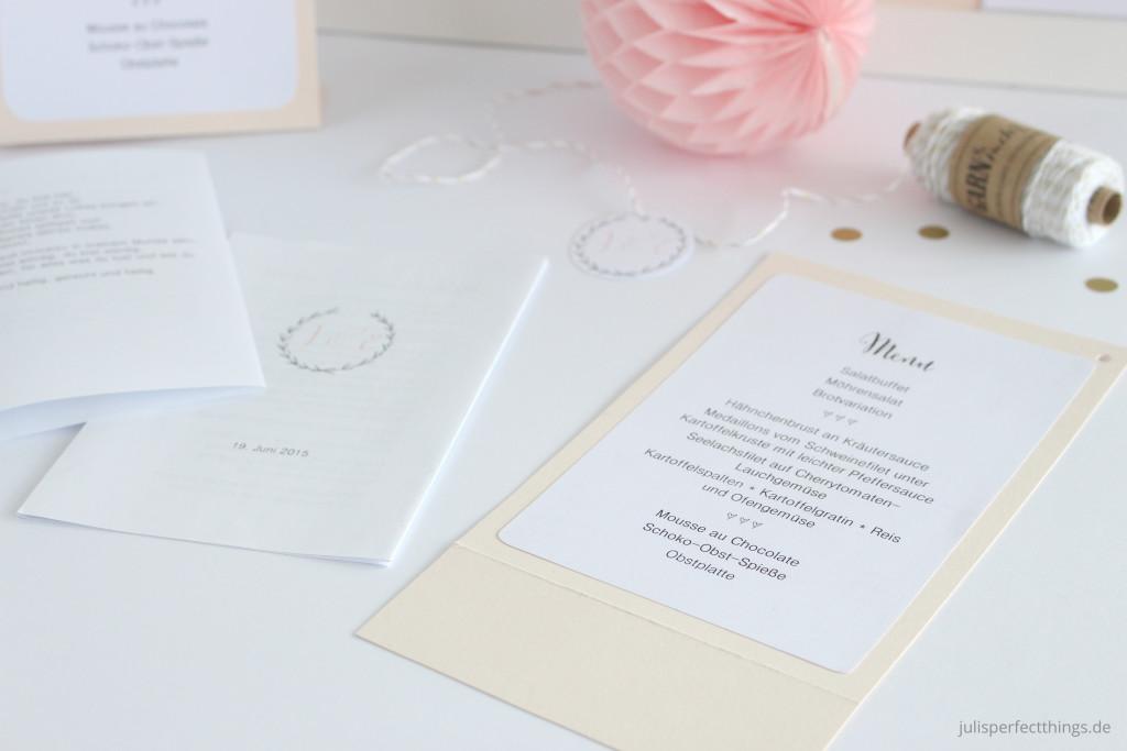 Hochzeitspapeterie DIY Menukarten Sitzplan Leporello_2