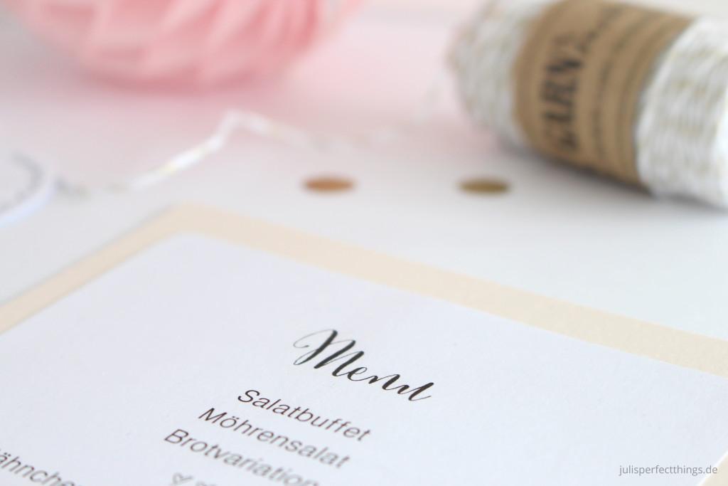 Hochzeitspapeterie DIY Menukarten Sitzplan Leporello_3